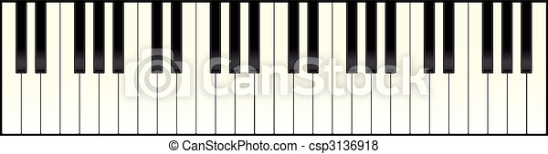 piano keyboard long - csp3136918