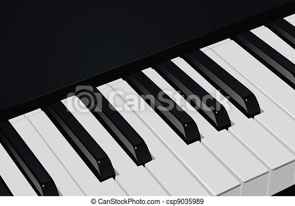 Piano keys - csp9035989