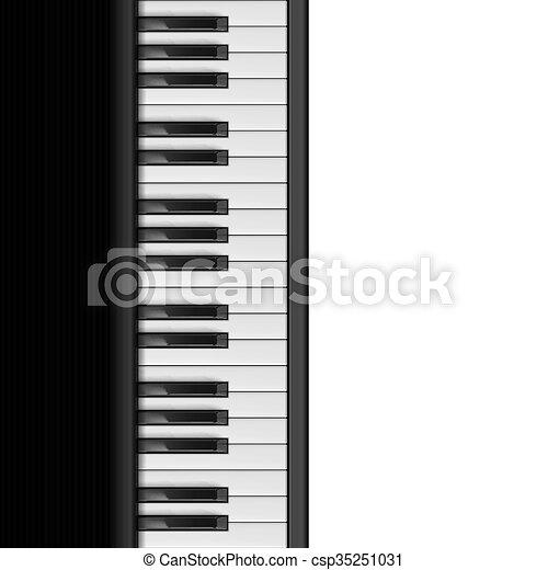 Piano Keys - csp35251031