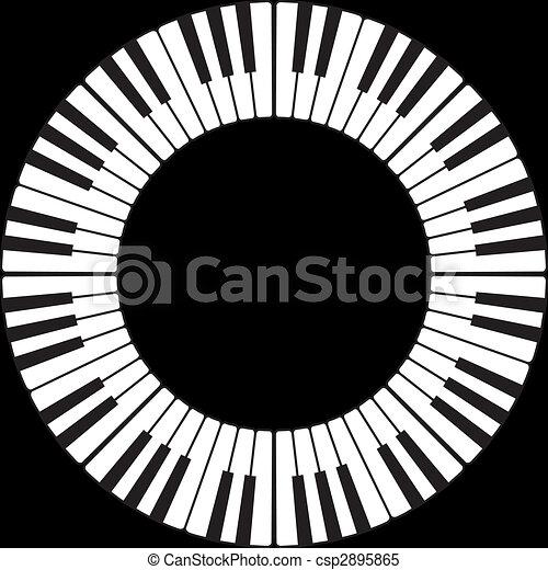 Piano keys in a circle - csp2895865