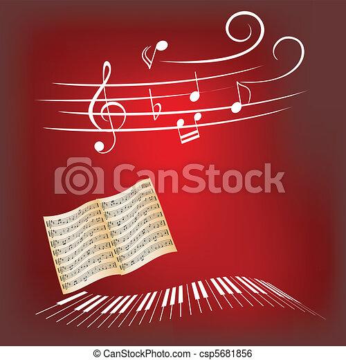 Piano music - csp5681856