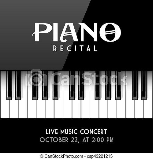 Piano recital poster - csp43221215