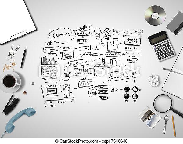 piano, strategia affari - csp17548646