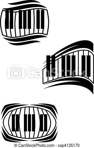 Piano symbols - csp4135170