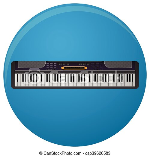 Piano Synthesizer Icon Flat