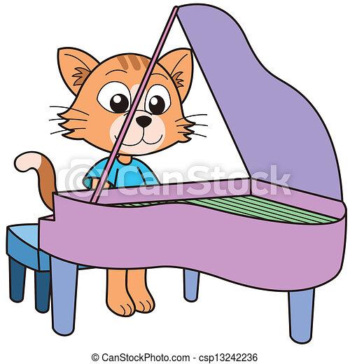 Pianoforte gatto gioco cartone animato giraffa gioco - Cartone animato giraffe immagini ...