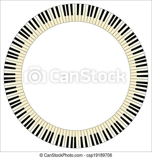 Pianom Keys Circle - csp19189706
