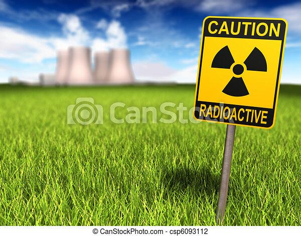 pianta nucleare, radioattività, potere, segno - csp6093112