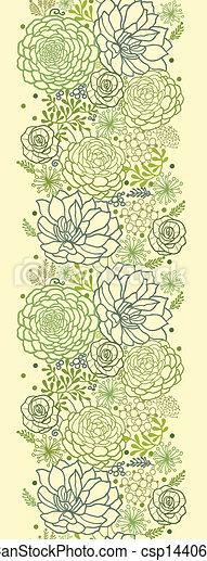 piante, succulento, verticale, modello, seamless, verde, bordo - csp14406663