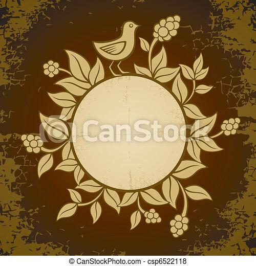 piante, uccelli, illustrazione - csp6522118
