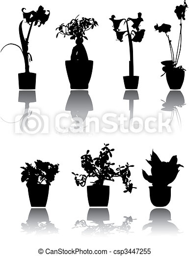 Bello piante casa silhouette riflesso 7 - Disegno pianta casa ...