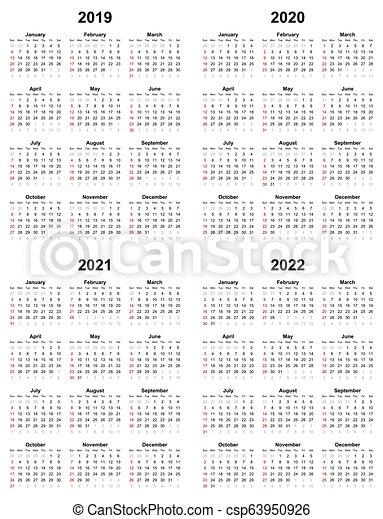 Calendario Annuale 2020.Pianura Annuale Domenica 2020 2021 2022 2019 Calendario Giorno Primo