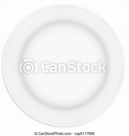 piastra, bianco, panino - csp0117895