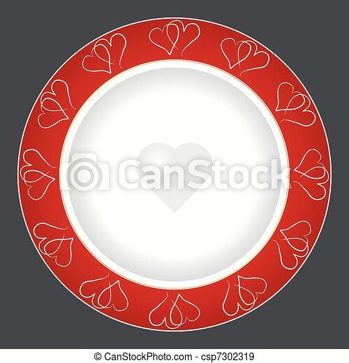 piastra, cena, disegno - csp7302319