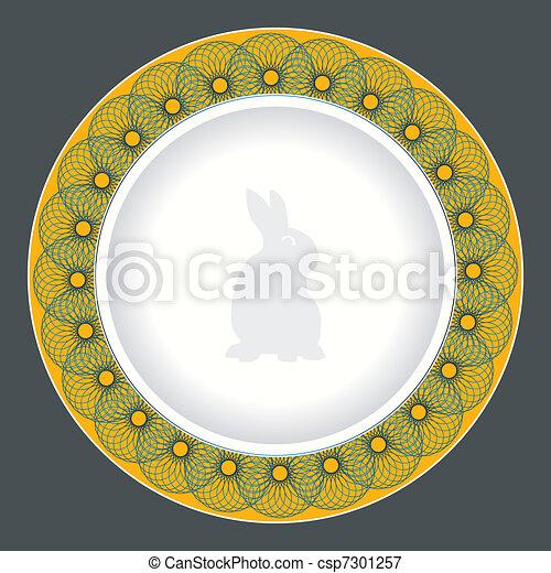 piastra, cena, disegno - csp7301257