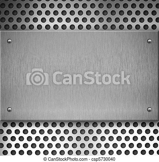 piastra, industriale, metallo, fondo - csp5730040