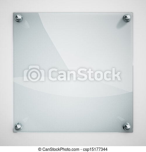 piastra, legato, parete, metallo, vetro, protezione, rivets., bianco - csp15177344