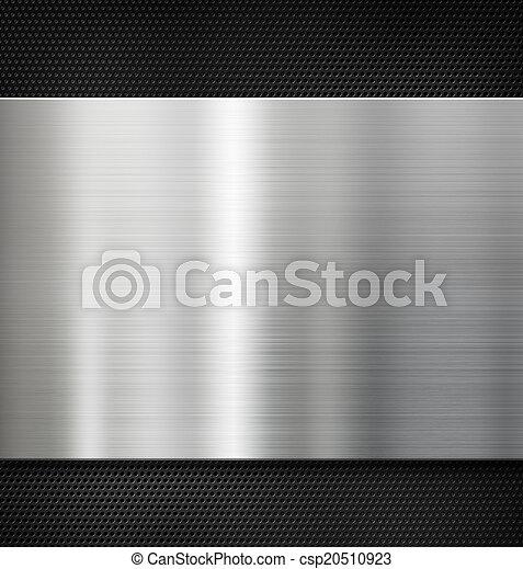 piastra, metallo, fondo - csp20510923