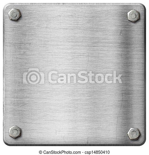 piastra, metallo, fondo - csp14850410