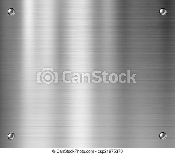 piastra, metallo, fondo - csp21975370