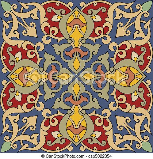 piastrella, arabesco - csp5022354