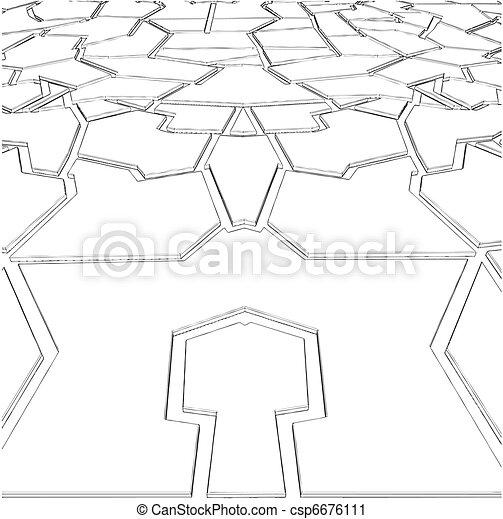piastrella, irregolare, pietra - csp6676111