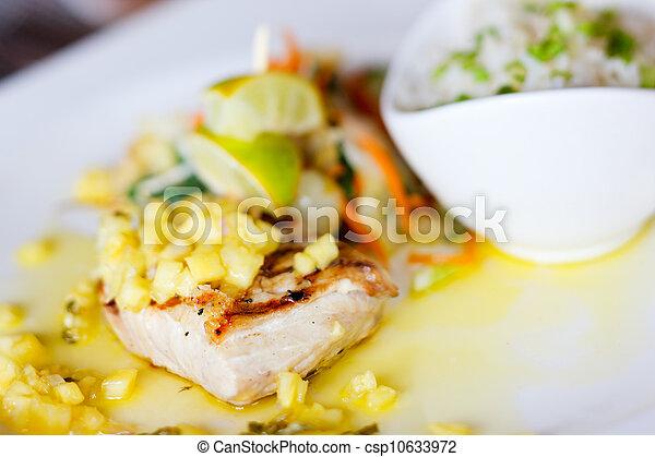 piatto, pietanza, fish - csp10633972