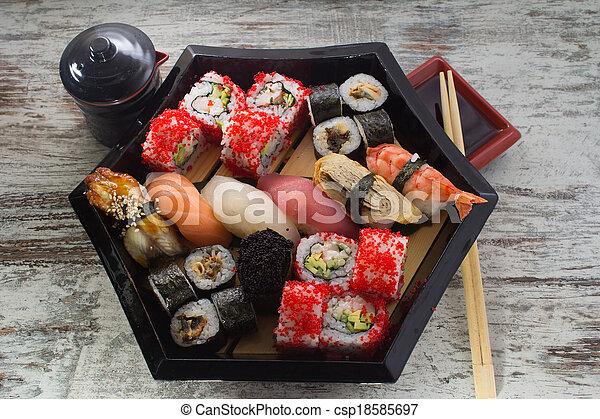 piatto, pietanza, sushi, fatto - csp18585697