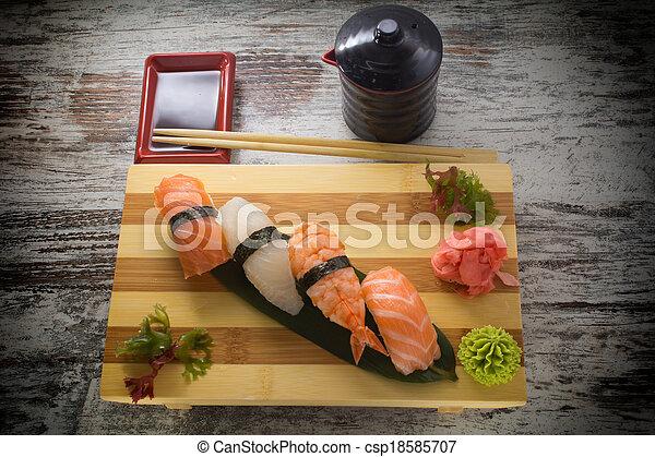 piatto, pietanza, sushi, fatto - csp18585707