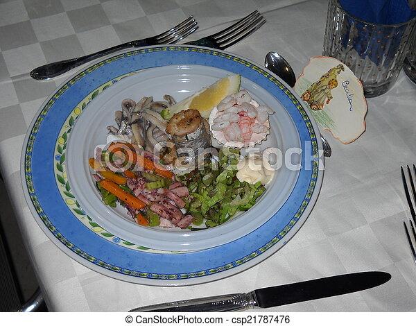 Piatto Tipico Di Pesce Siciliano Un Piatto Di Pesce Tipico Della