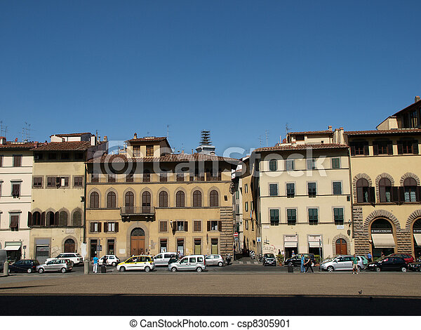 Piazza de Pitti - Florence , Tuscany, Italy - csp8305901