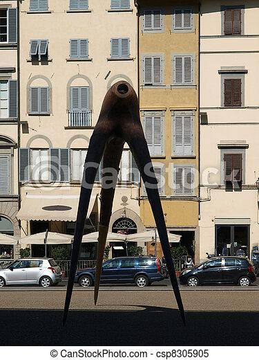Piazza de Pitti - Florence , Tuscany, Italy - csp8305905