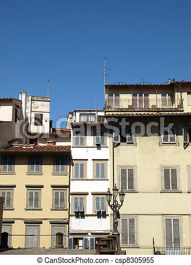 Piazza de Pitti - Florence , Tuscany, Italy - csp8305955