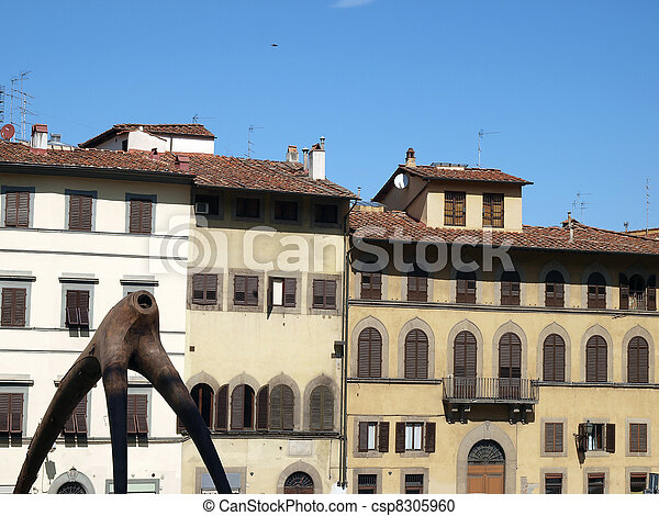 Piazza de Pitti - Florence , Tuscany, Italy - csp8305960