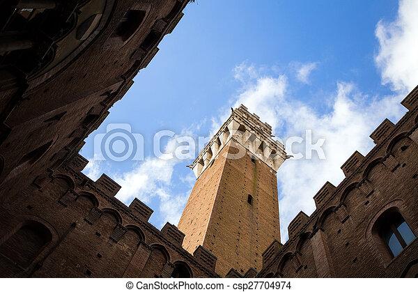 Piazza del Campo in Siena - csp27704974