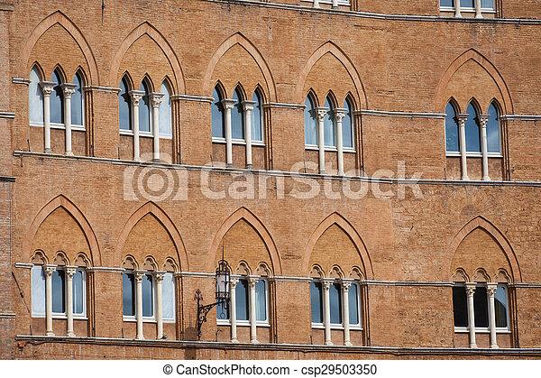Piazza del Campo in Siena - csp29503350