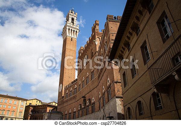 Piazza del Campo in Siena - csp27704826