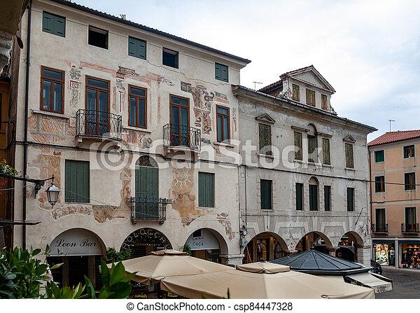Piazza Liberta ( Liberty Square) in Bassano del Grappa. Italy - csp84447328