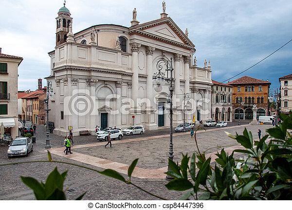 Piazza Liberta ( Liberty Square) in Bassano del Grappa. Italy - csp84447396