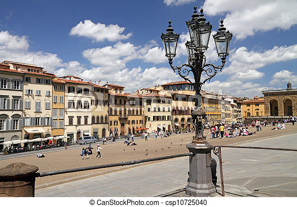 Piazza Pitti in Florence - csp10725040