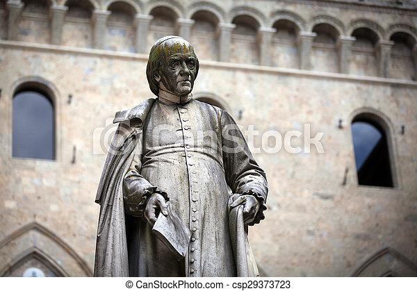 Piazza Salimbeni in Siena, Tuscany. - csp29373723