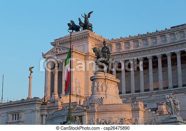 Piazza Venezia and Vittoriano Emanuele Monument - csp26475890