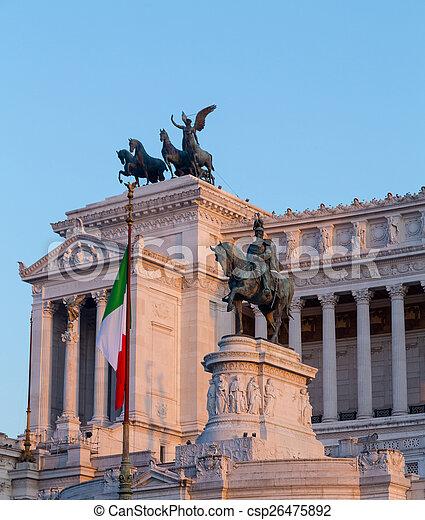 Piazza Venezia and Vittoriano Emanuele Monument - csp26475892