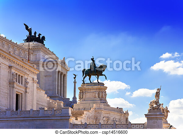 Piazza Venezia in central Rome, Italy. Monument for Victor Emenuel II. - csp14516600
