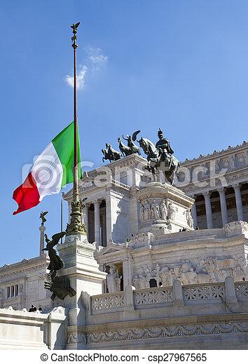Piazza Venezia in central Rome, - csp27967565