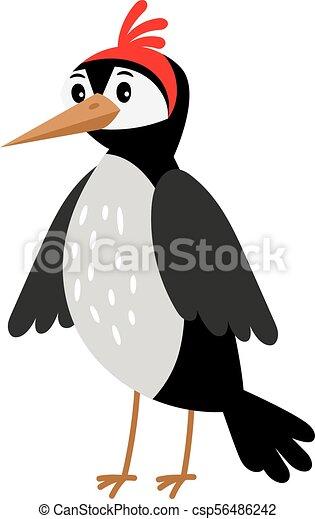 Picchio cartone animato uccello vettore scarabocchiare