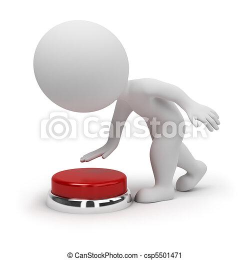 piccolo, bottone, 3d, -, persone - csp5501471