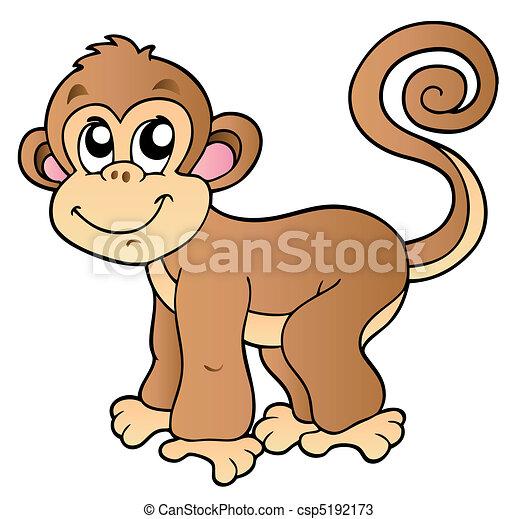 piccolo, carino, scimmia - csp5192173