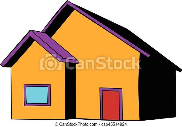 Piccolo cottage icona cartone animato icona stile for Piani di piccolo cottage artigiano