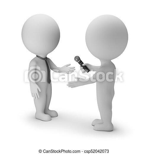 piccolo, intervista, 3d, -, persone - csp52042073